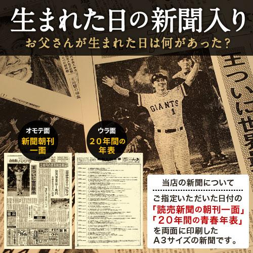 77年前の記念日の新聞付き